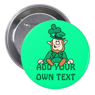 Pequeño Leprechaun - añada su propio texto Pin