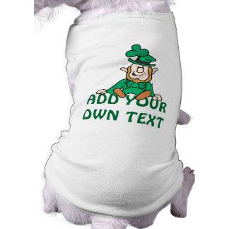 Pequeño Leprechaun - añada su propio texto Camisas De Perritos