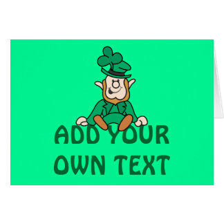 Pequeño Leprechaun - añada su propio texto Tarjeta De Felicitación