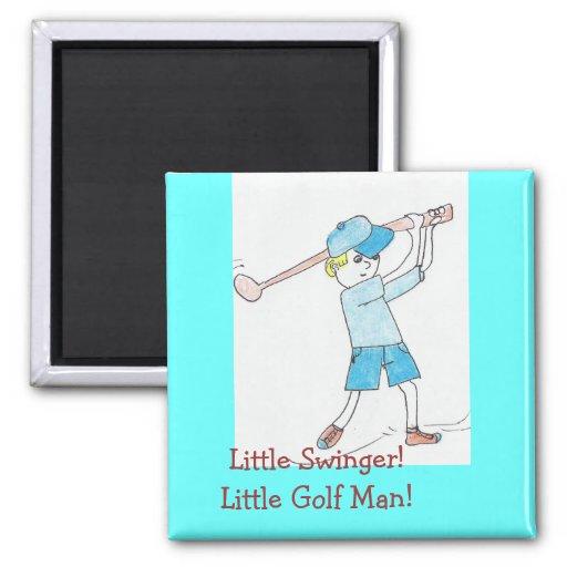 ¡Pequeño libertino! ¡Poco hombre del golf! Iman De Nevera