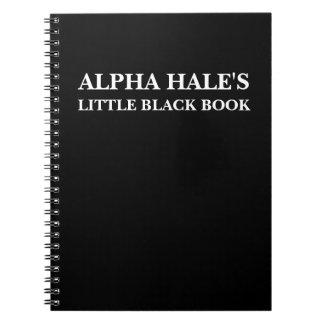 Pequeño libro negro sano alfa (personalizable) notebook