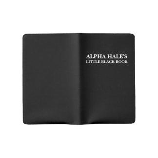 Pequeño libro negro sano alfa (personalizable) funda para libreta y libreta grande moleskine