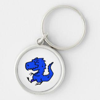 Pequeño llavero azul del premio del dinosaurio