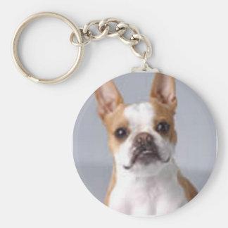 Pequeño llavero de Brown Boston Terrier
