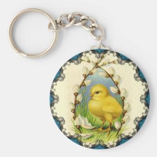 Pequeño llavero de Pascua del polluelo