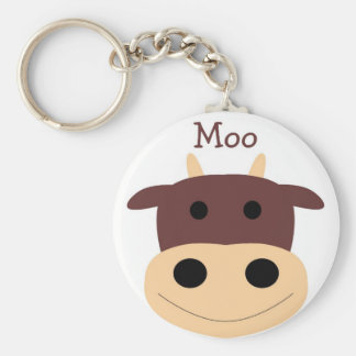 Pequeño llavero marrón lindo de la vaca