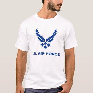 Pequeño logotipo azul de la fuerza aérea con el playera
