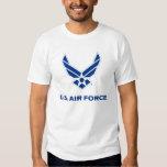 Pequeño logotipo azul de la fuerza aérea con el polera
