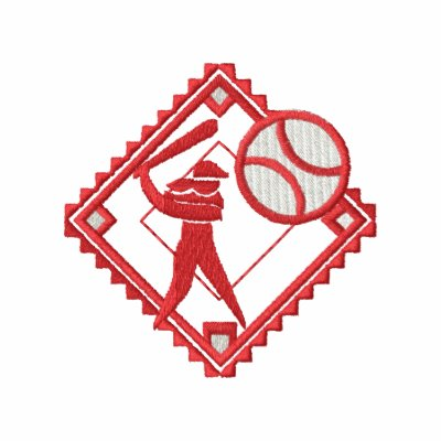 Pequeño logotipo del softball camiseta polo bordada