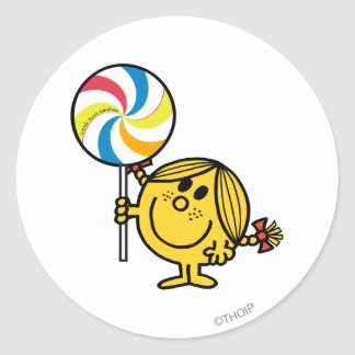 Pequeño Lollipop gigante de Srta. Sunshine el | Pegatina Redonda