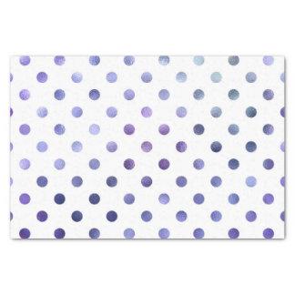 Pequeño lunar de la hoja metálica violeta púrpura papel de seda pequeño