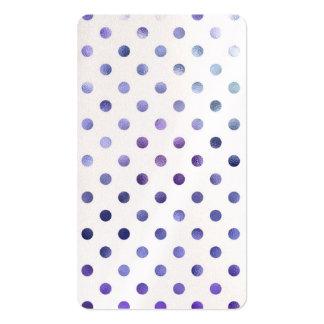 Pequeño lunar de la hoja metálica violeta púrpura tarjetas de visita