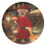 Pequeño mago de los osos pequeños platos para fiestas