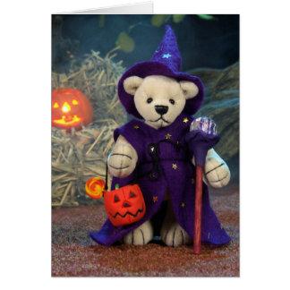 Pequeño mago de los osos pequeños tarjeta
