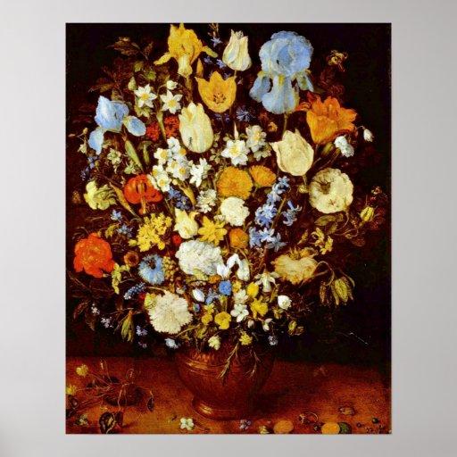 Pequeño manojo de flores en enero Brueghel la anci Póster