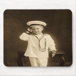Pequeño marinero del vintage tapetes de ratones