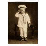 Pequeño marinero del vintage tarjeta