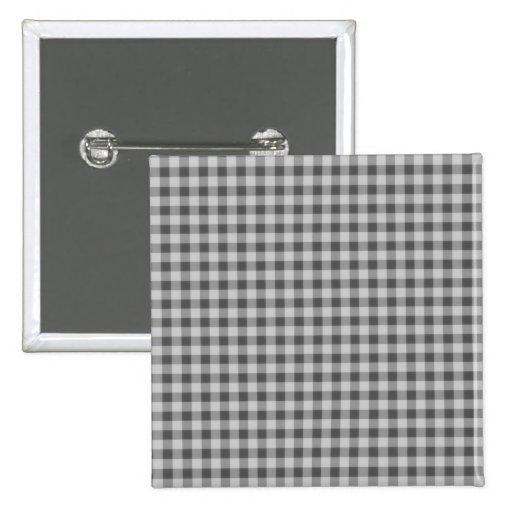 Pequeño modelo 1 de los inspectores - negro y blan pin cuadrada 5 cm