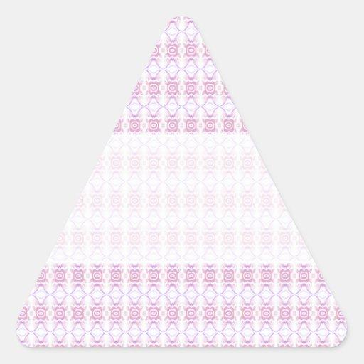 Pequeño modelo de flor rosado pegatina triangular
