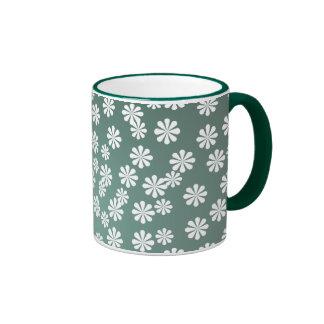 Pequeño modelo lindo de la margarita blanca tazas de café