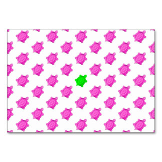Pequeño modelo lindo de la tortuga rosada/verde