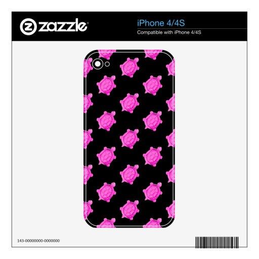 Pequeño modelo rosado lindo de la tortuga calcomanías para el iPhone 4