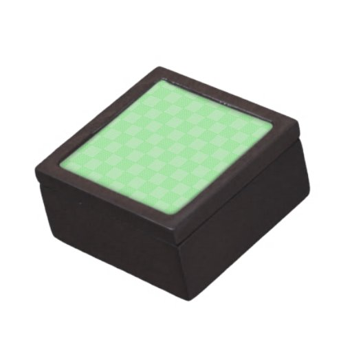 Pequeño modelo verde texturizado del remiendo cajas de recuerdo de calidad