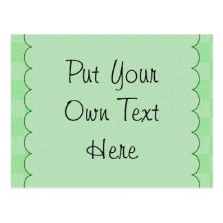 Pequeño modelo verde texturizado del remiendo tarjeta postal