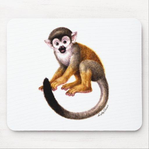 Pequeño mono alfombrillas de ratón