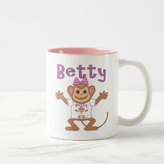 Pequeño mono Betty Taza