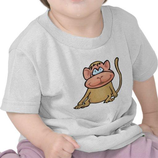 Pequeño mono camisetas