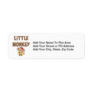 Pequeño mono (chica) etiqueta de remite