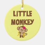 Pequeño mono (chica) ornamento de navidad