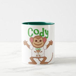 Pequeño mono Cody Taza De Dos Tonos