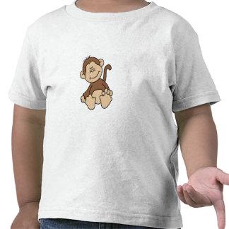 Pequeño mono de Brown Camisetas
