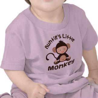 Pequeño mono de las tías camisetas