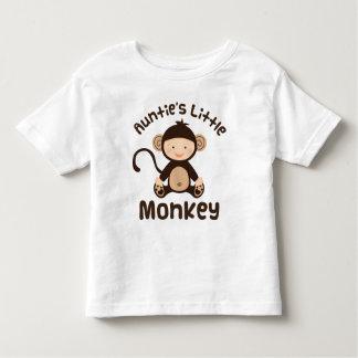 Pequeño mono de las tías t-shirt