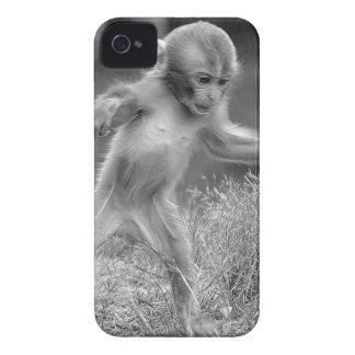 Pequeño mono enrrollado Case-Mate iPhone 4 protectores