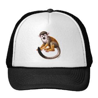 Pequeño mono gorros bordados
