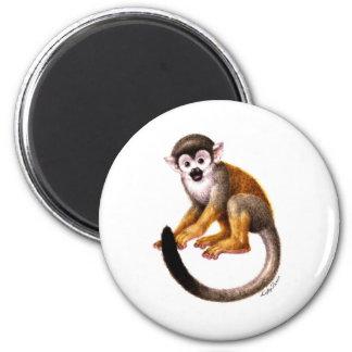 Pequeño mono imán redondo 5 cm