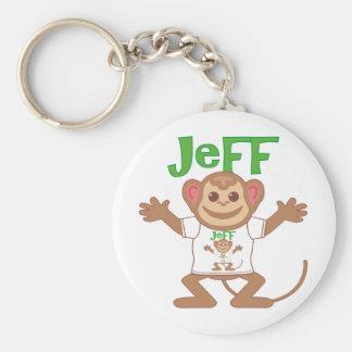 Pequeño mono Jeff Llavero Redondo Tipo Pin