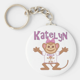 Pequeño mono Katelyn Llavero Redondo Tipo Pin