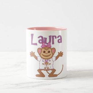 Pequeño mono Laura Taza De Dos Tonos