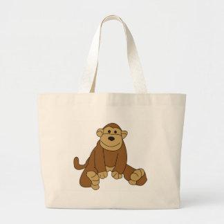 Pequeño mono lindo bolsas de mano