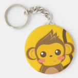 Pequeño mono lindo llavero personalizado