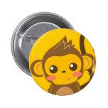 Pequeño mono lindo pin