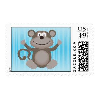 Pequeño mono lindo sellos