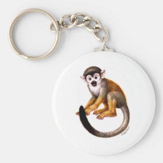 Pequeño mono llavero redondo tipo pin