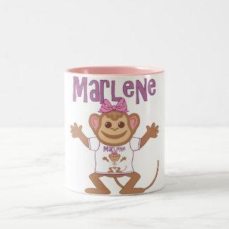 Pequeño mono Marlene Taza De Café De Dos Colores