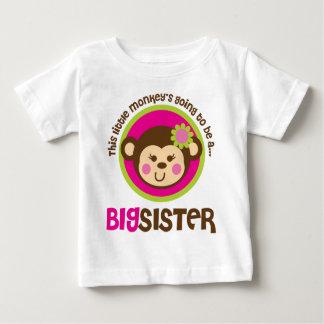 Pequeño mono que va a ser una hermana grande playeras